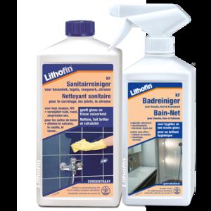 Lithofin KF Onderhoudsset Badkamer - Bad- en Sanitairreiniger - 500ml + 1L